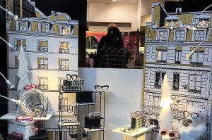 Vitrine de Noël à Rennes